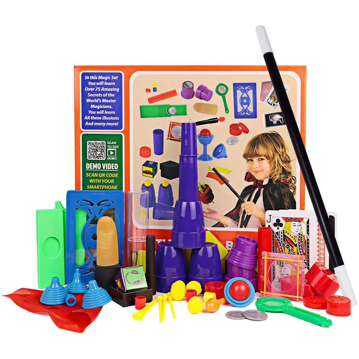 HAPTIME Magic Tricks Kit for Beginners, Little Magician Illusions Deck Performance, Secrets of Levitation by Magic Maker, Children's Game, Best Age for 4 5 6 7 8 9 10 Year Old Kids Boys Girls