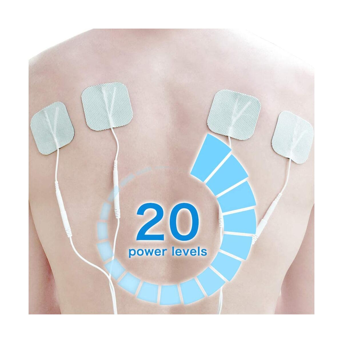 Easy@Home Professional Grade Rechargeable TENS Unit Electronic Pulse Massager,Backlit LCD Display, Professional Grade Powerful Pulse Intensity, 510K Cleared, FSA Eligible OTC Home Use, EHE012PRO