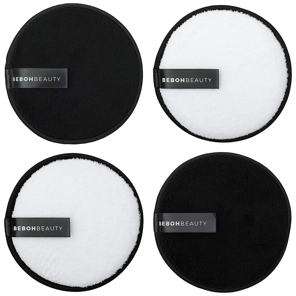 Reusable Makeup Eraser Pads | 4 Pack Large Eco Friendly Microfiber Makeup Remover Pads for Face Makeup | Perfect for Chemical Free Removal of Eye Makeup Foundation Highlighter and Lipstick