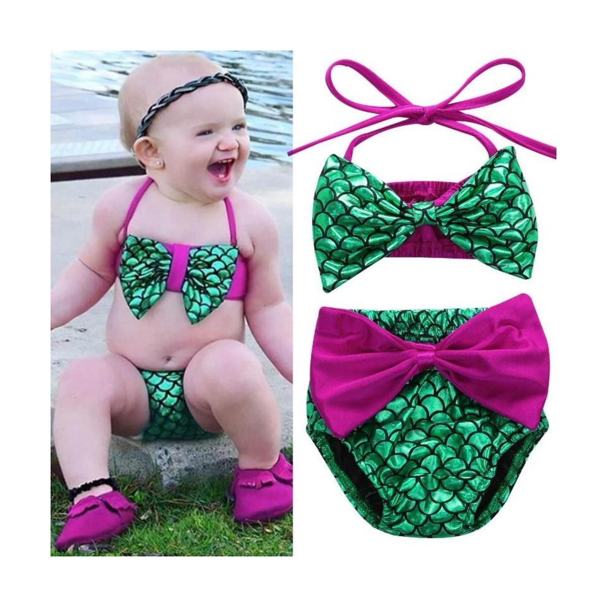 Toddler Kids Baby Girl Mermaid Swimsuit Bikini Set Summer Children Swimwear Bathing Suit