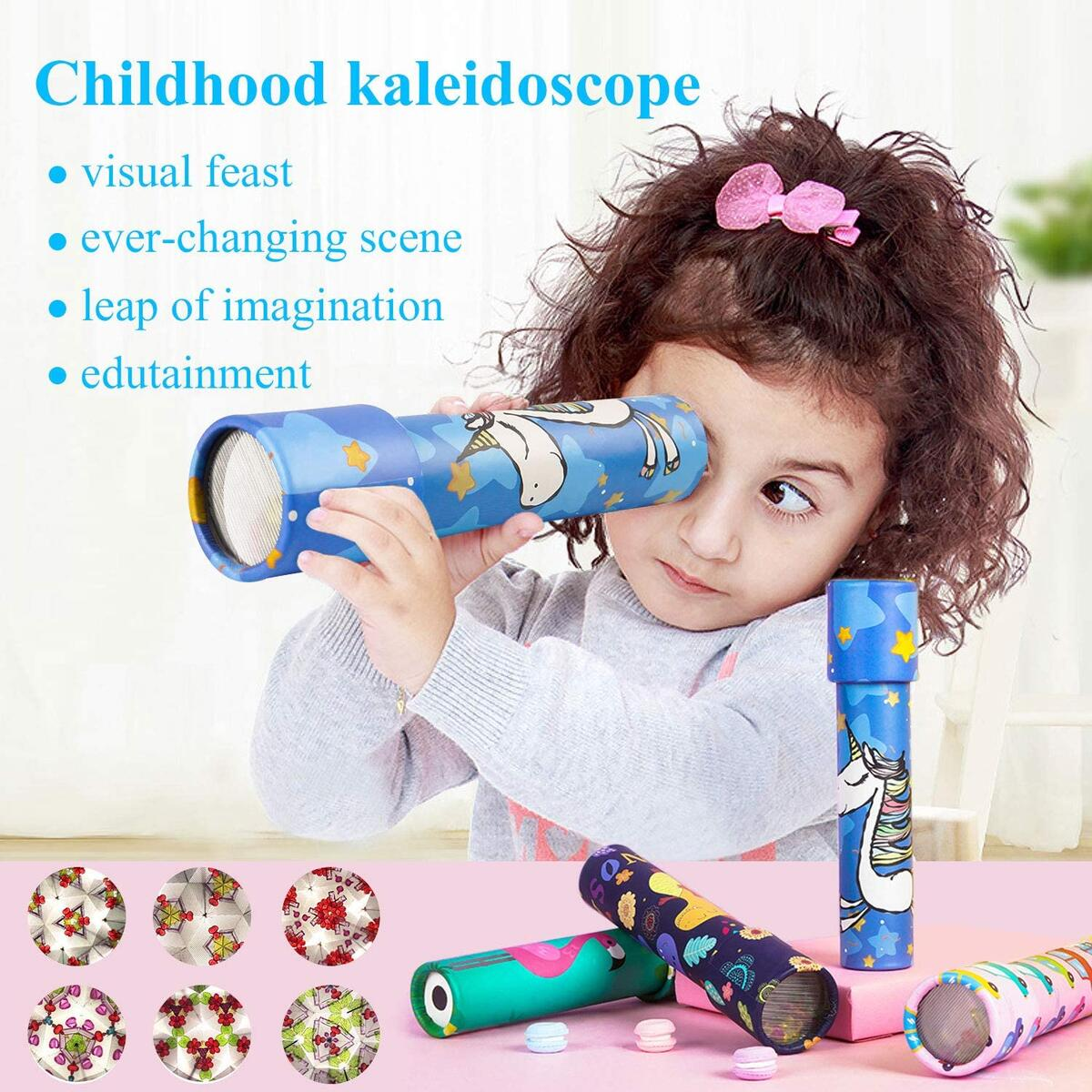 HAPTIME Classic Kaleidoscopes Old Fashioned Vintage Toys for Kids, Party Favors Perfect as Stock Stuffers Bag Fillers School Classroom Prizes (Set of 12)