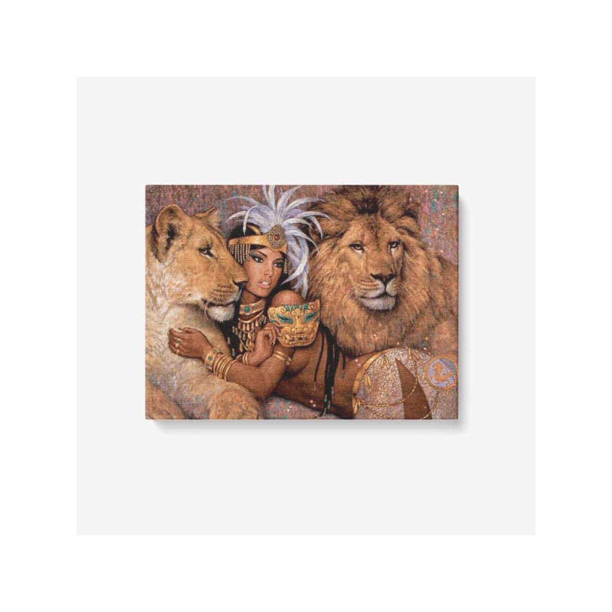 Lion print Canvas Wall Art