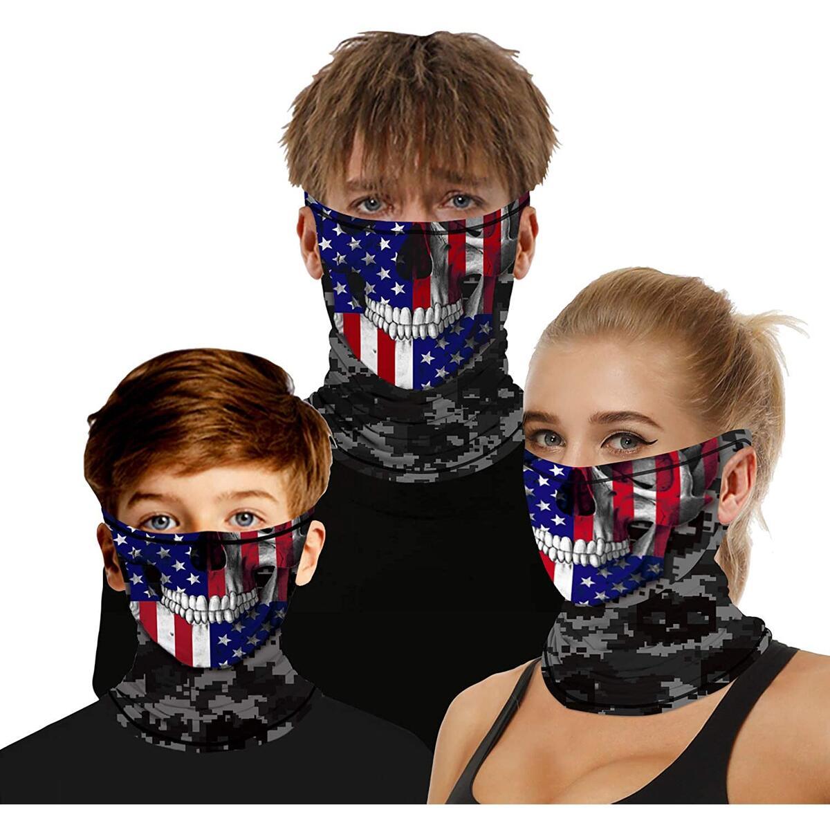 Bandanas Cooling Neck Gaiter Balaclava Headband Scarf for Dust, Outdoor Sport Riding Men Women Teenagers