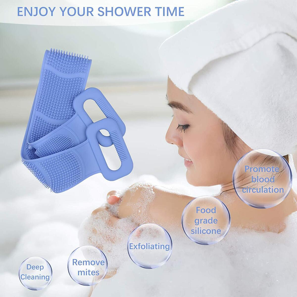 Silicone Back Scrubber for Shower - 2020 Lengthened 31