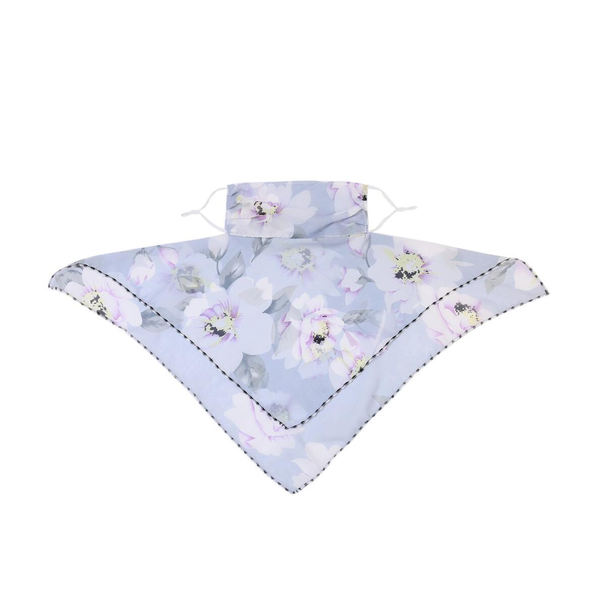 Sunscreen Mask Neck Protection Thin Summer Breathable Silk Scarf Full Covering Chiffon Triangle Scarf Outdoor Riding