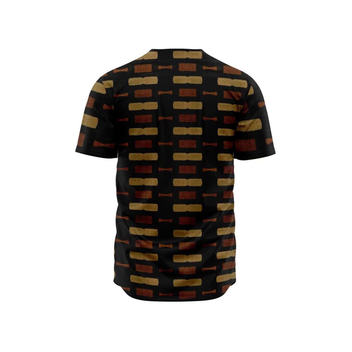 Afrocentric Bogolan Baseball Jersey