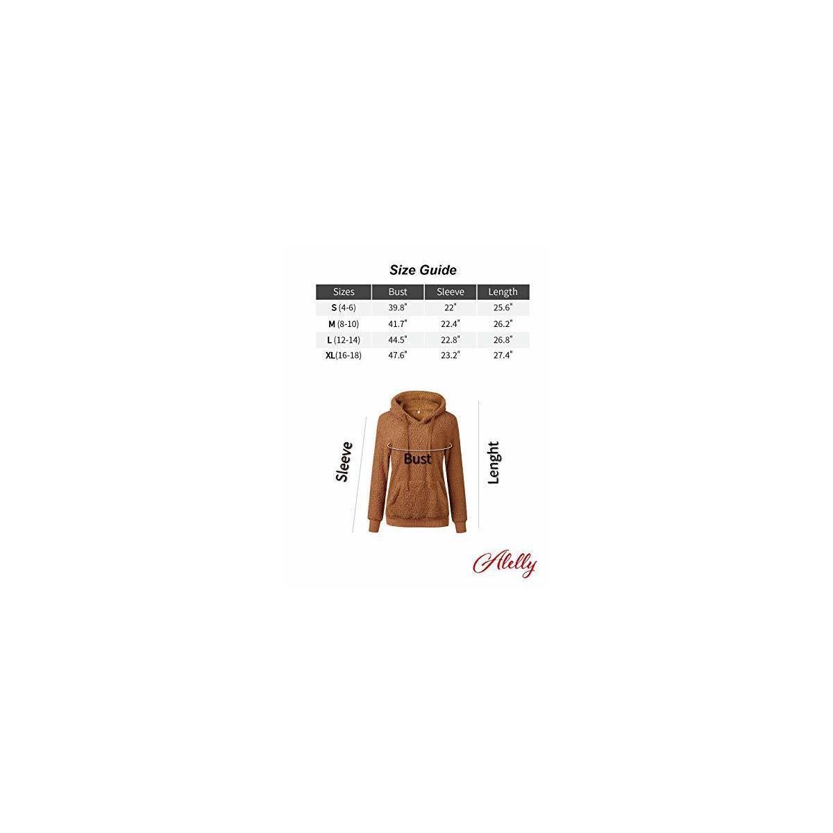 Women's Winter Fuzzy Fleece Coat Sherpa Teddy Bear Jacket Fluffy Sweater Hoodie Sweatshirt with Pockets