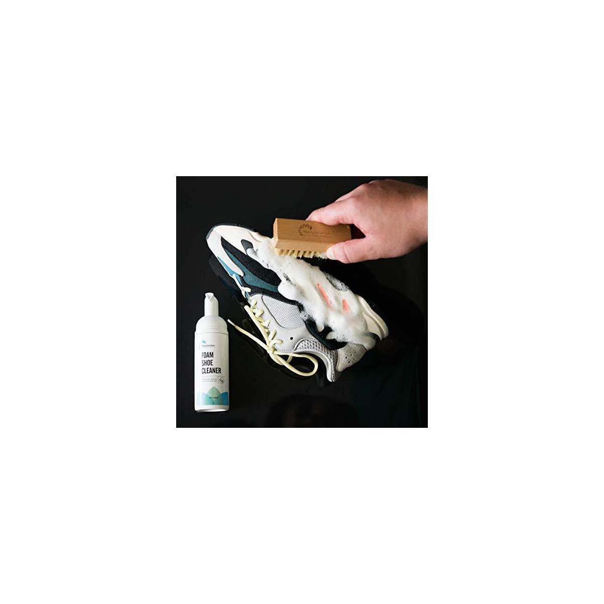 Shoe Cleaner Kit by YeezySolution - Eco-Friendly Ingredients, Water-free Effective Foam Formula, Water Repellent Spray, Premium Soft-Brush
