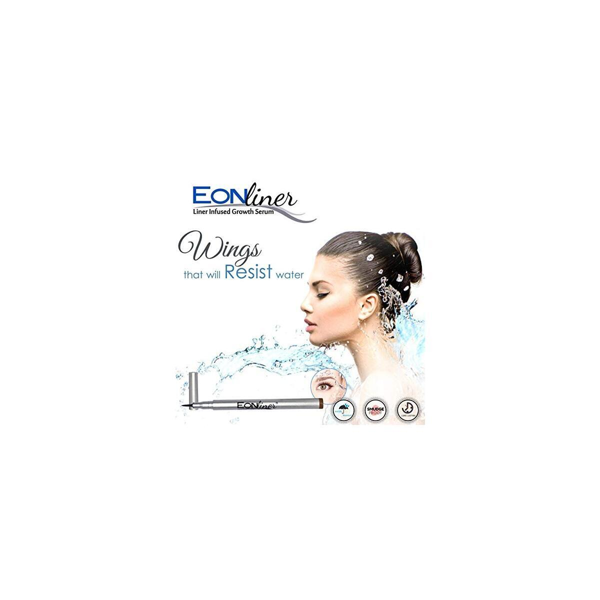 Eyebrow & Eyelash Growth Serum with Eyeliner Liquid pen - Hypoallergenic and Paraben Free Formula for Longer, Thicker Eyebrows, and Lavish Lashes | Super Slim Long-Lasting - 12 Hours Treatment