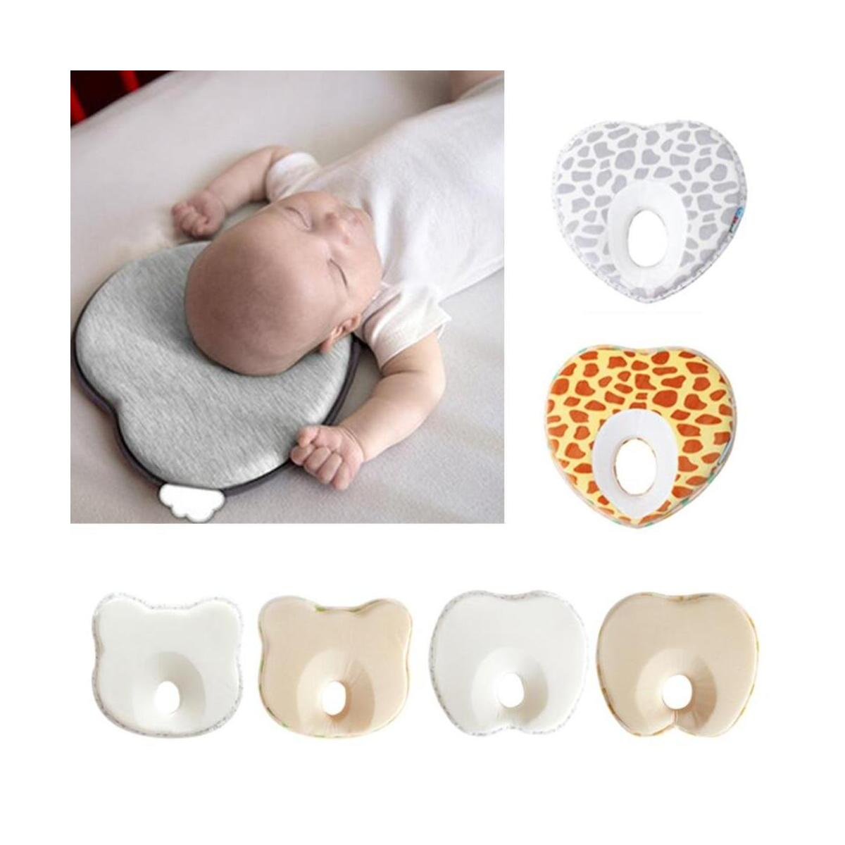 Infant Anti Roll Pillow Shape Toddler Sleeping Positioner Cushion Flat Head Neck Protect Newborn Baby Bedding
