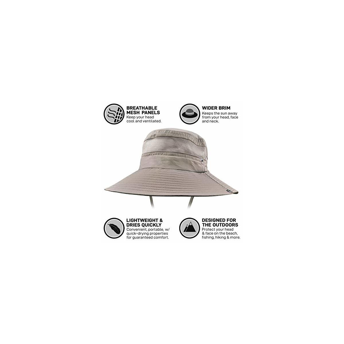 GearTOP Fishing Hat and Safari Cap with Sun Protection | Premium Hats for Men and Women (Beige, Khaki, Army Green, Black Camo Available)