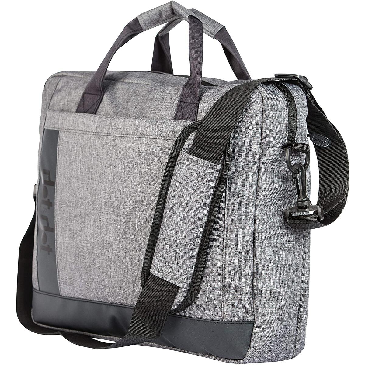 Travel Laptop Bag Briefcase: Top of The Line Quality Messenger Sleeve Case for Your Tablet, Notebook, MacBook, iPad (Gray)