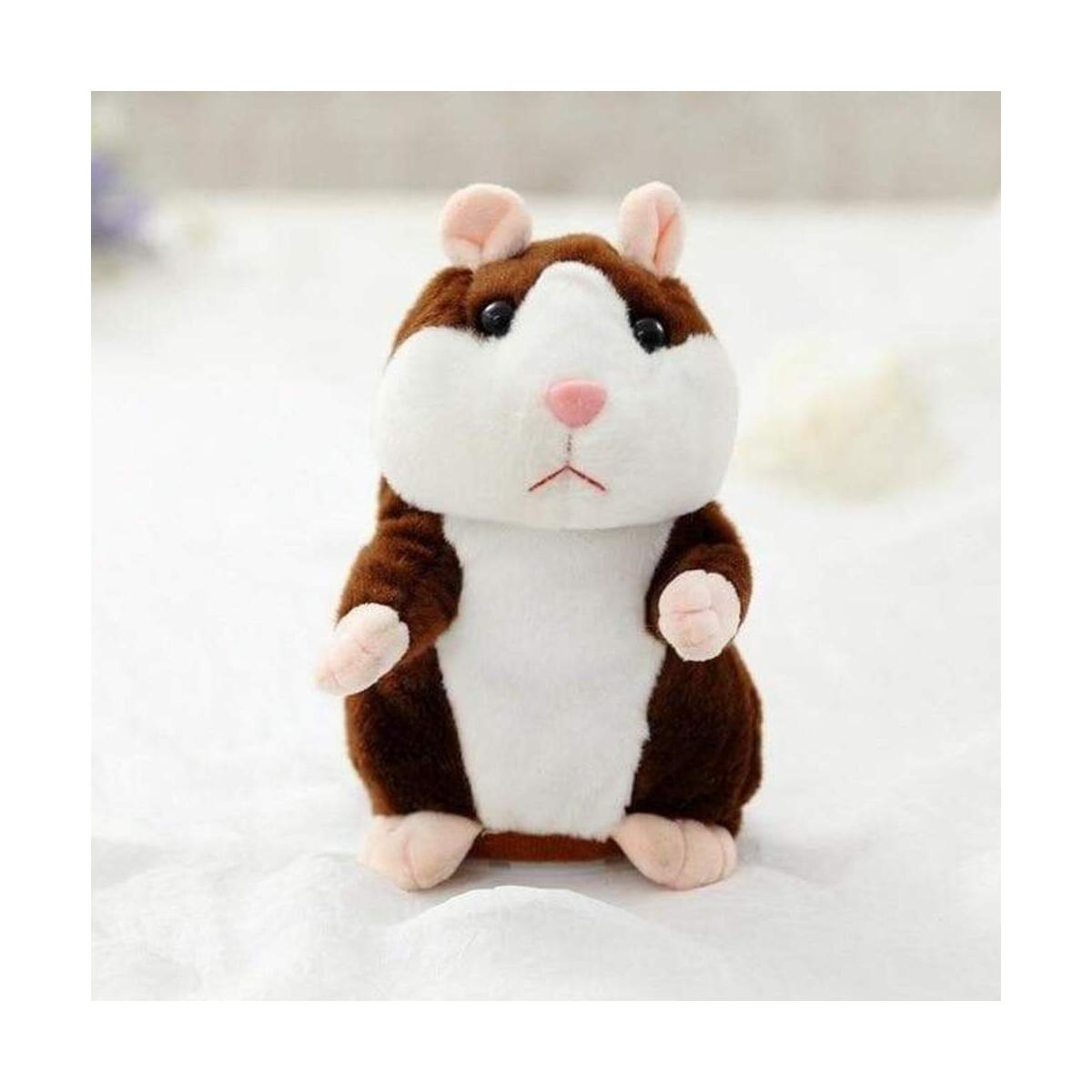 Milo the Talking Hamster Mouse Toy - Repeats What You Say and Can Walk Pet Talking Plush Buddy