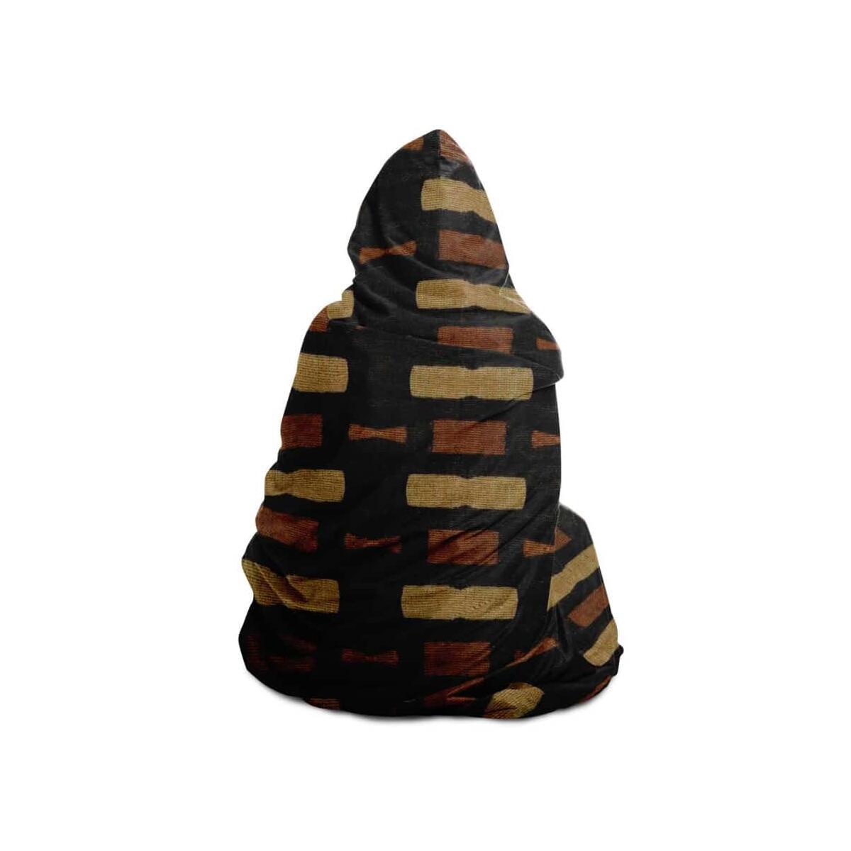 Afrocentric Bogolan Hooded Blanket