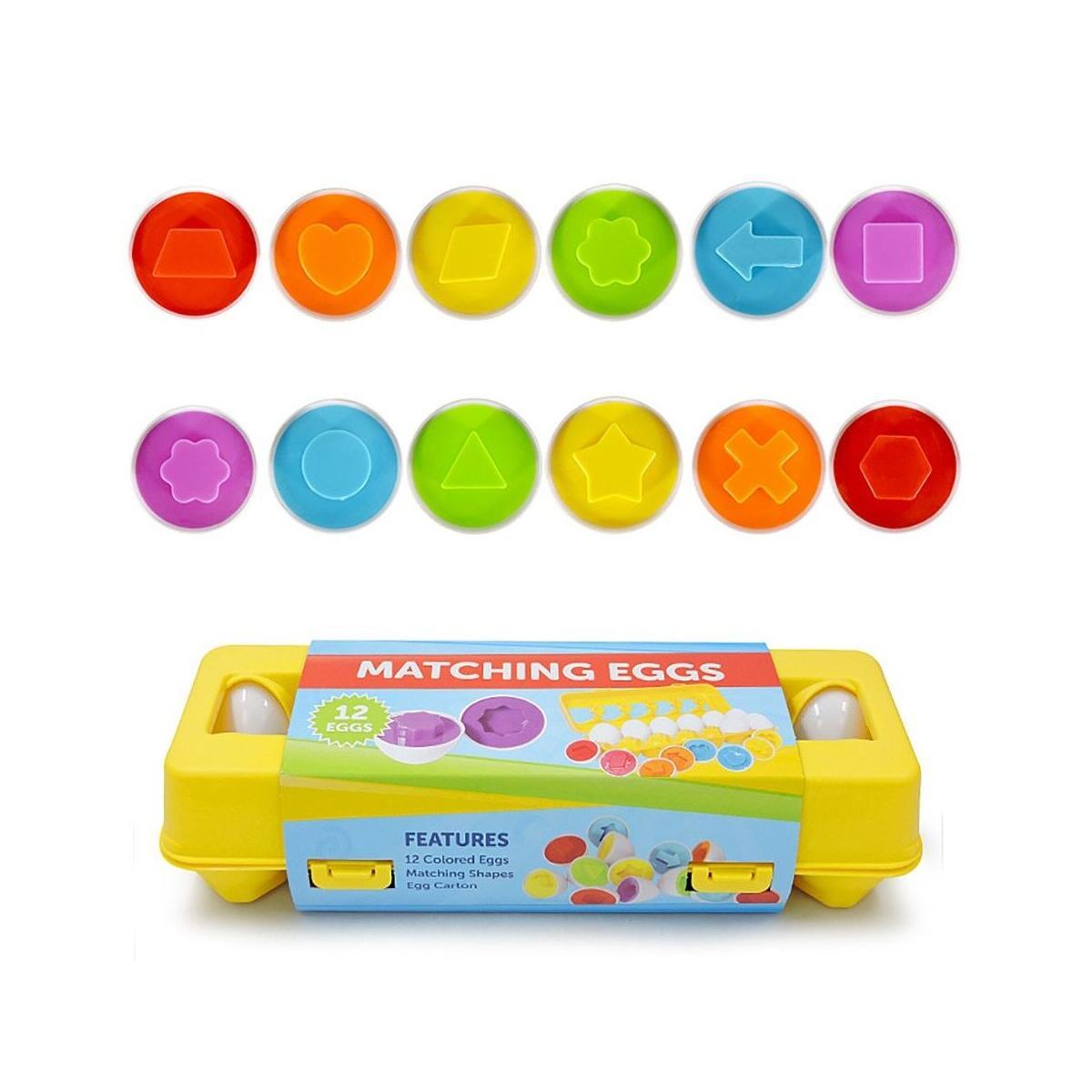 Toddler Color & Shape Sorter Matching Egg Set Educational Learning Toy Kids Gift