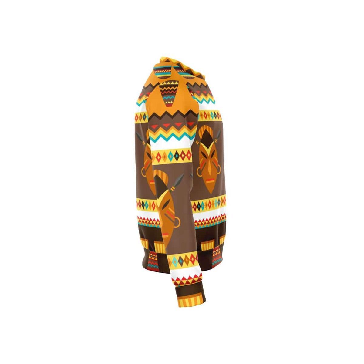 African Djembe Masks Sweatshirt, S