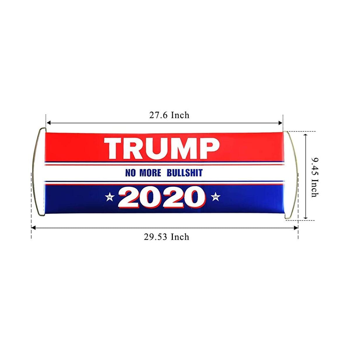 Unisex Donald Trump 2020 Hat & Handheld Banner Flag Printed Keep America Great USA Flag Adjustable Baseball Visor Mesh Cap