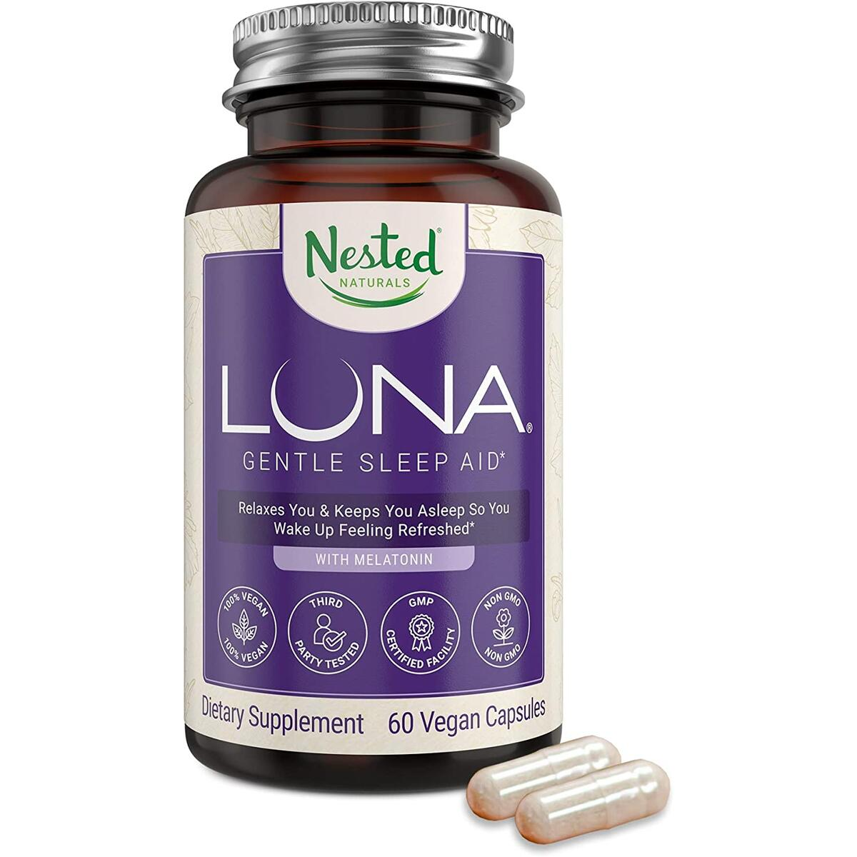 Nested Naturals Luna | #1 Sleep Aid on Amazon | Naturally Sourced Ingredients | Sleeping Pills for Adults
