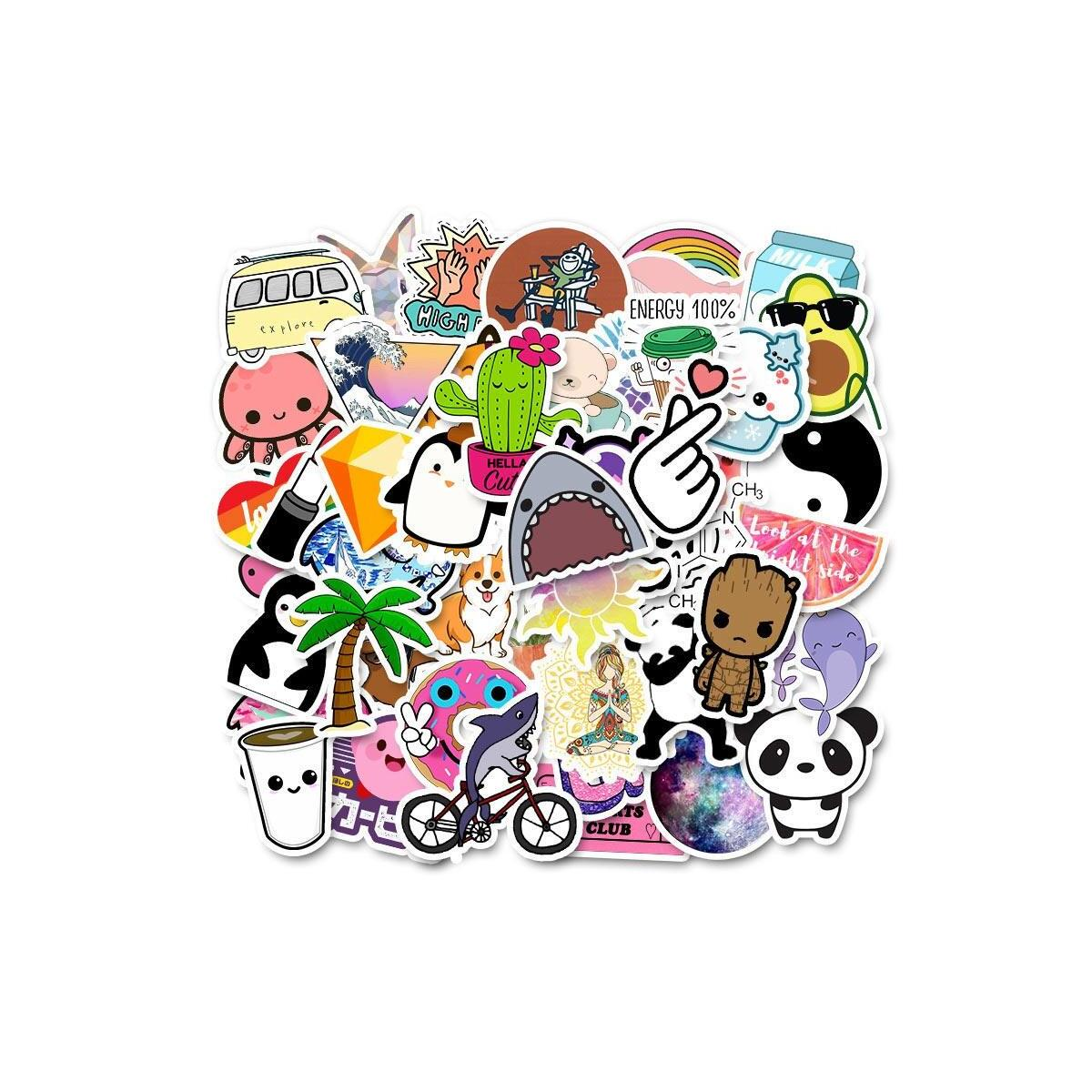 50PCS Cool Summer Pink Pack Sticker Decals, Summer C