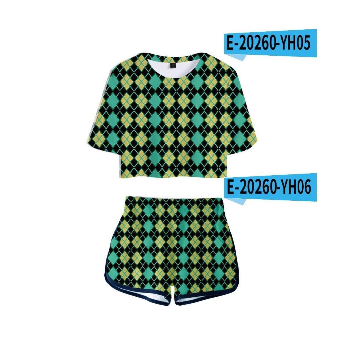 Animal Crossing Print Pajama Set, style 7 / S