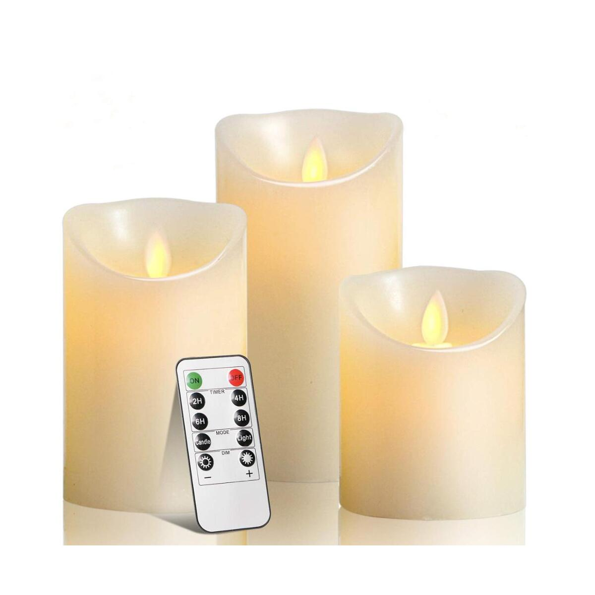 Wichmann | Flameless Candles for Garden Home Decor Party Wedding Decoration | Unscented LED Tealight Real Wax Candles, 3 Watts