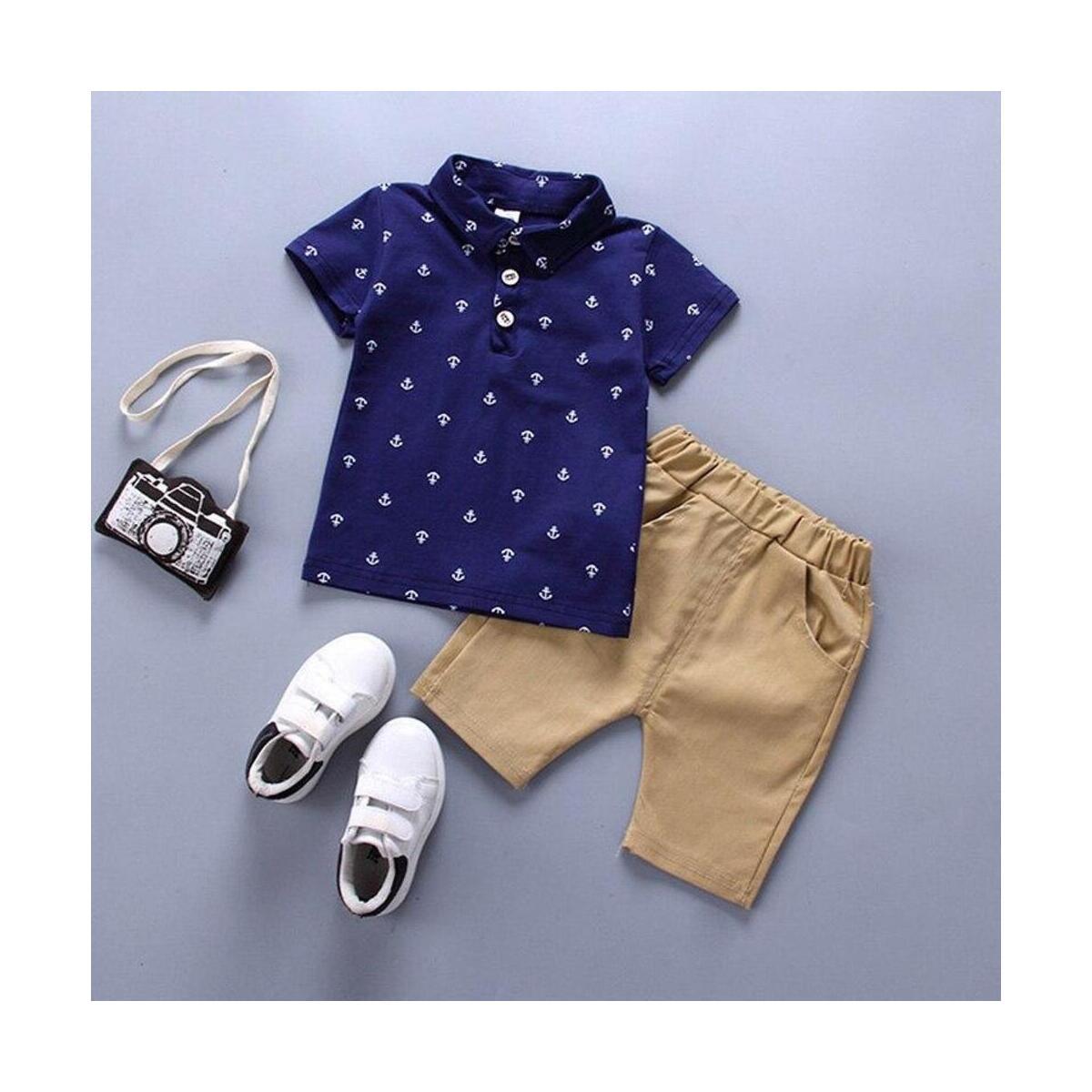 Boy Clothing 2pcs set Baby Boy Clothes Baby BoyPOLO T-shirt Pant