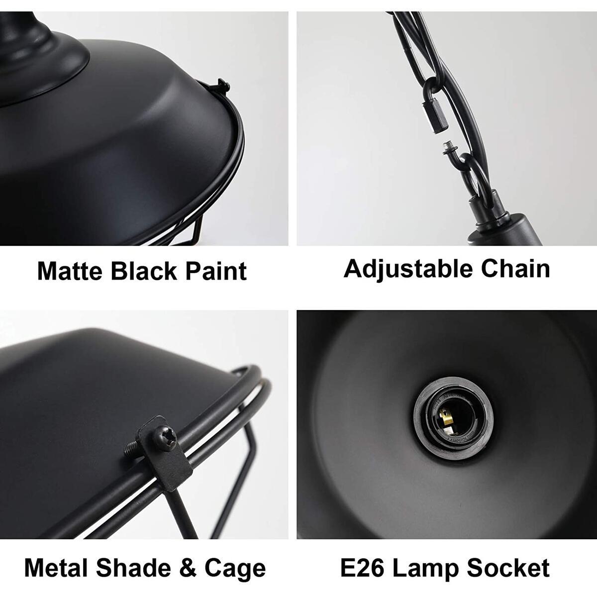 Industrial Pendant Lighting 2 Pack 10.23
