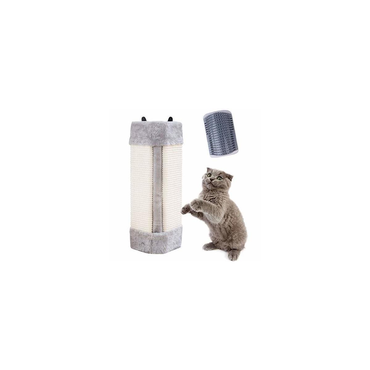 Pampurr Cat Scratcher Cat Scratching Board Pad Hanging Scratcher Cat Wall Mounted Scratching Post//Wall Corner Foldable Pet Sisal Scratcher//Furniture Protector