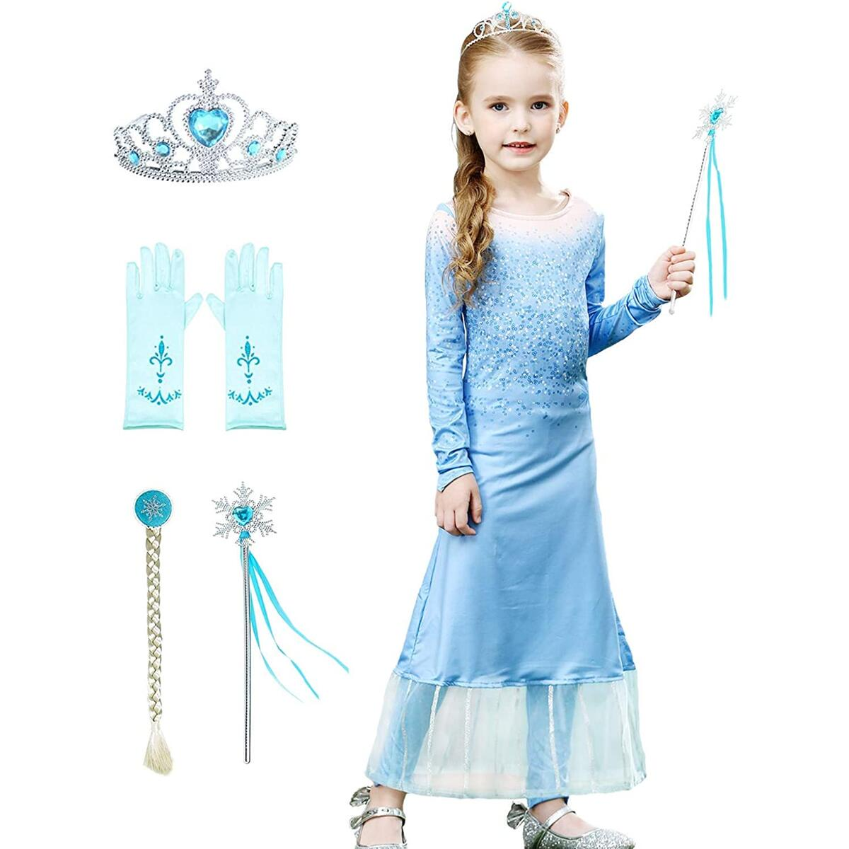 Princess Dress Costume Act 2 - Girls Halloween Birthday Party for Toddler Dress Up