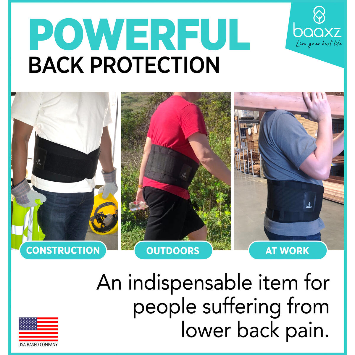 BAAXZ Back Brace Lumbar Support Waist Belt - Relief for Back Pain, Herniated Disc, Sciatica, Scoliosis! Waist Trainer for Weight Loss, Slimming Body Shaper Belt, Posture Corrector ( MEDIUM )