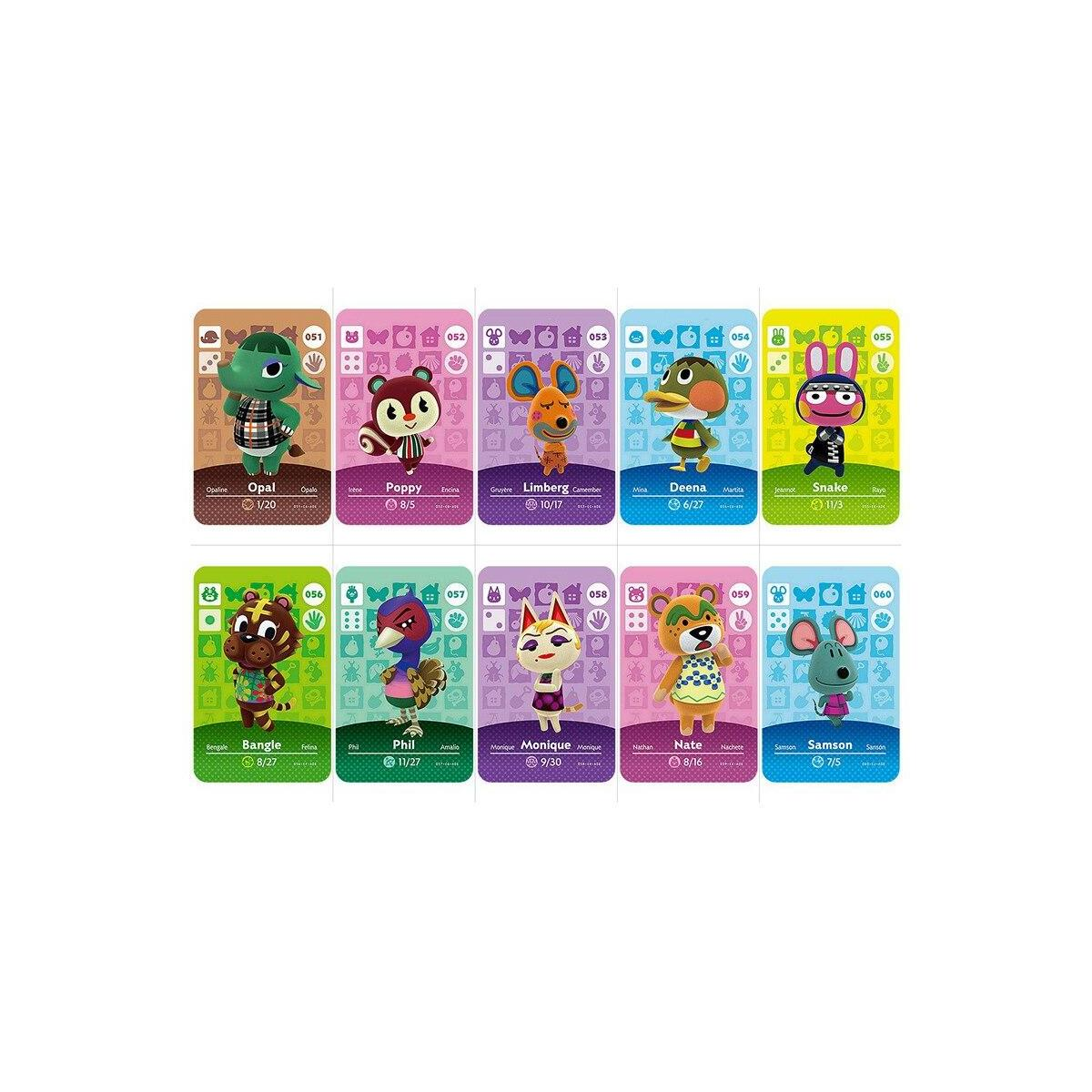 31 to 60 Animal Crossing Amiibo Cards Series 1, 043 Puck