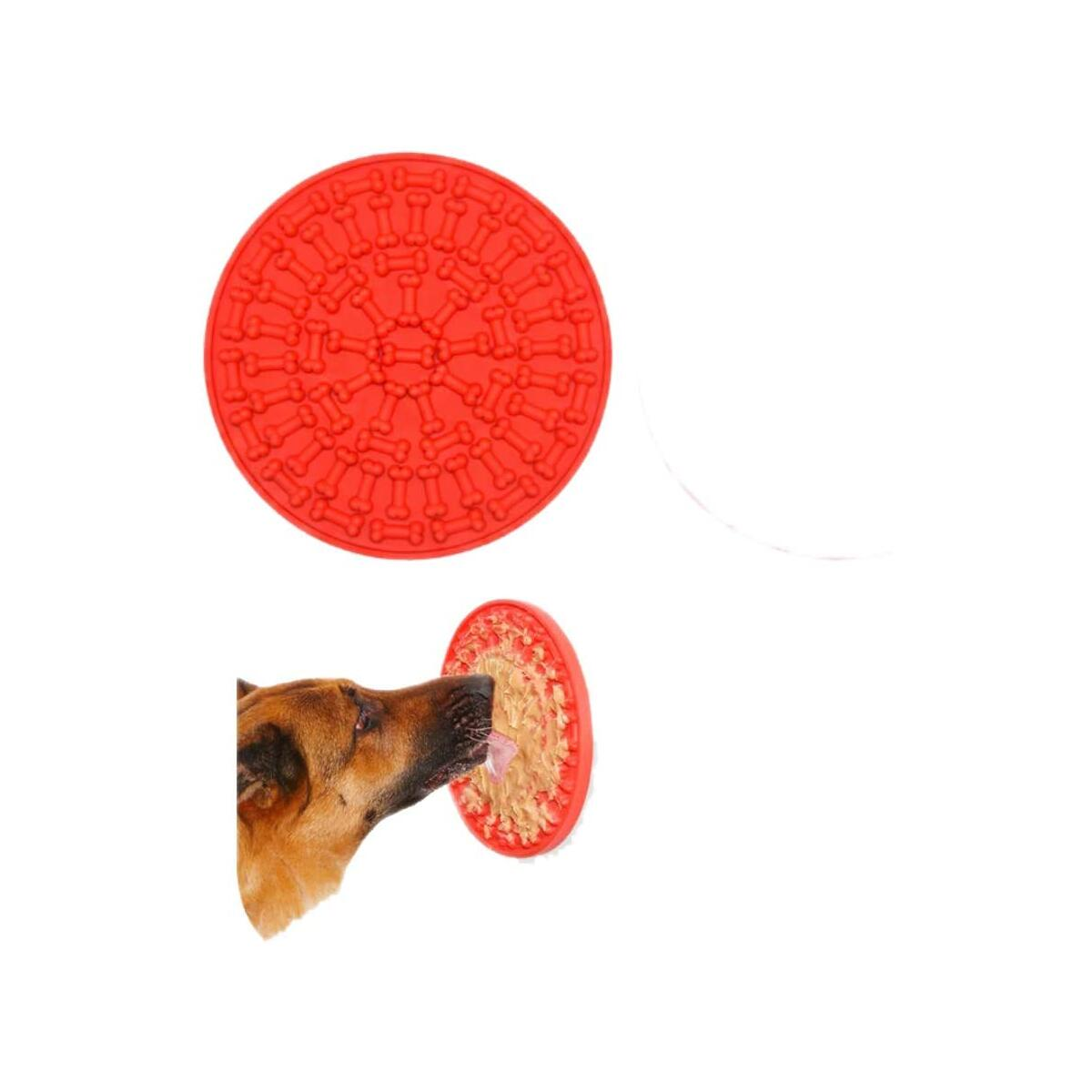 Wichmann Dog Lick Pad   Pet Bathing Distraction Pads Silicone Slow Feeder Lick Mat with Strong Suction   Set of Spatula with Cleaning Brush