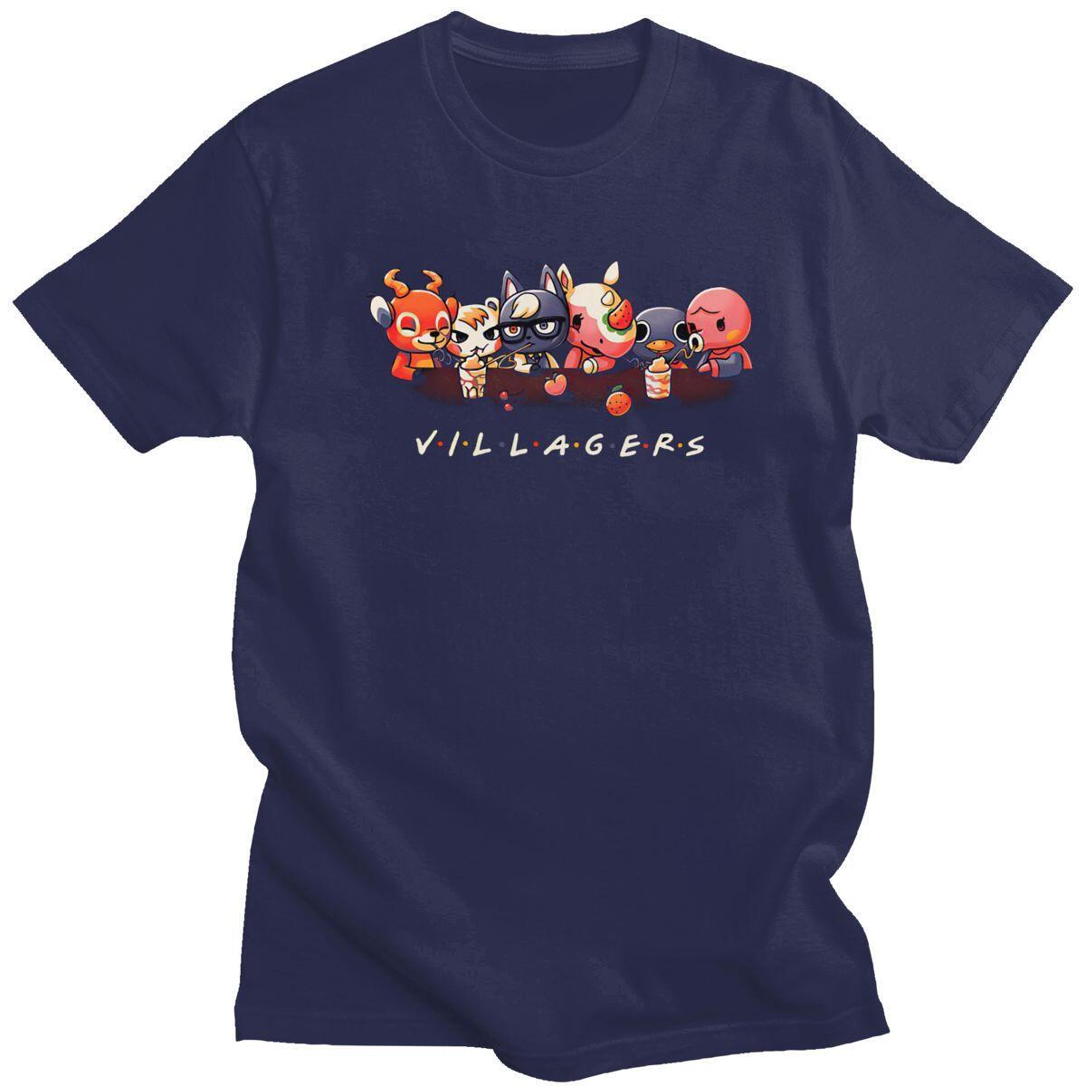 Friends Style Villager Shirt, Navy Blue / XL