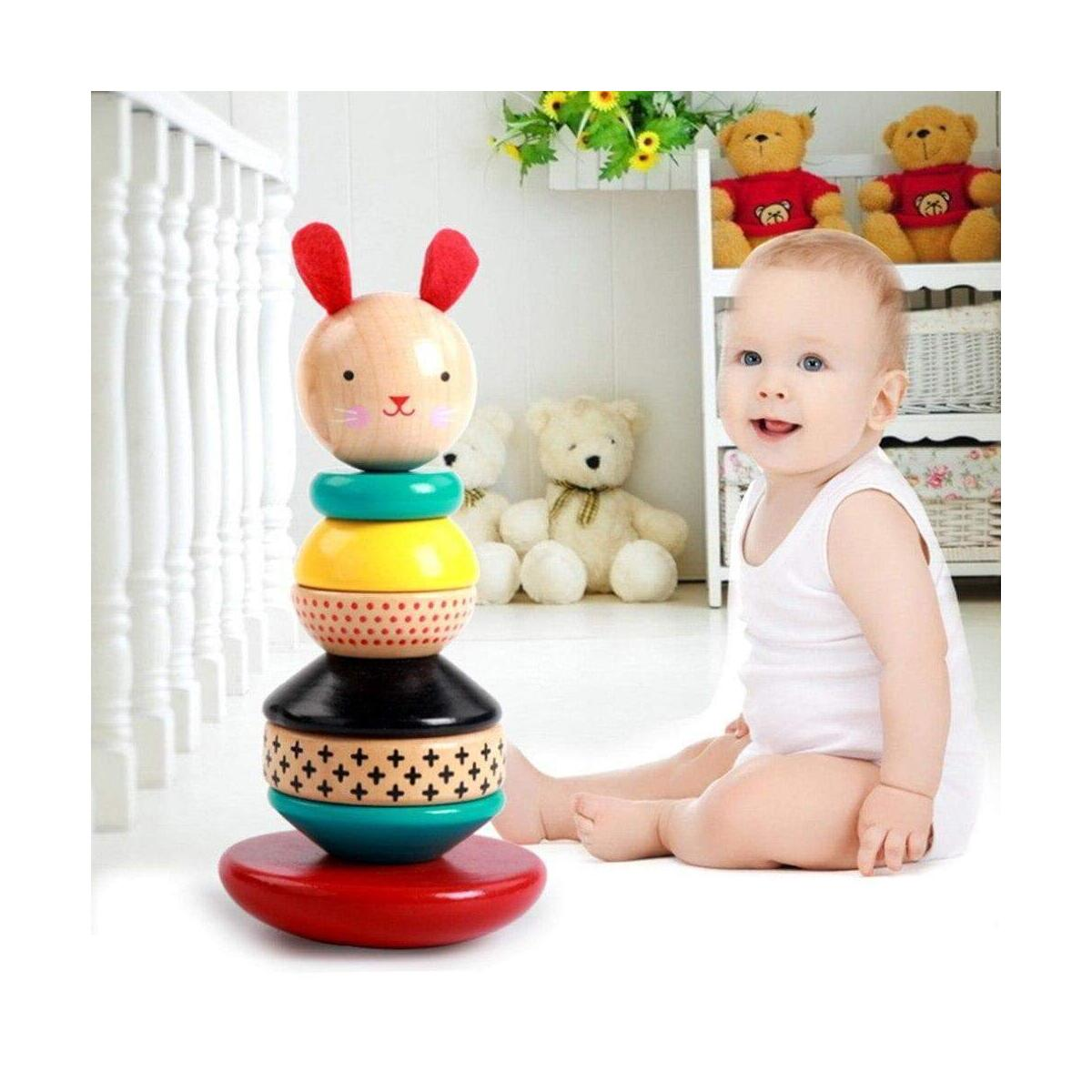 Wooden Infant & Toddle Stack & Tumble Toy