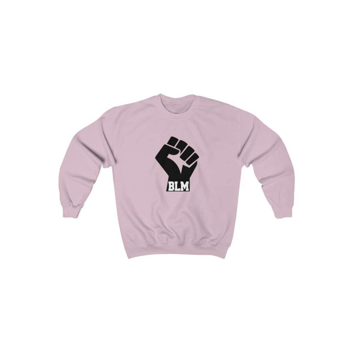 Afrocentric Fist Bottom BLM Crewneck Sweatshirt