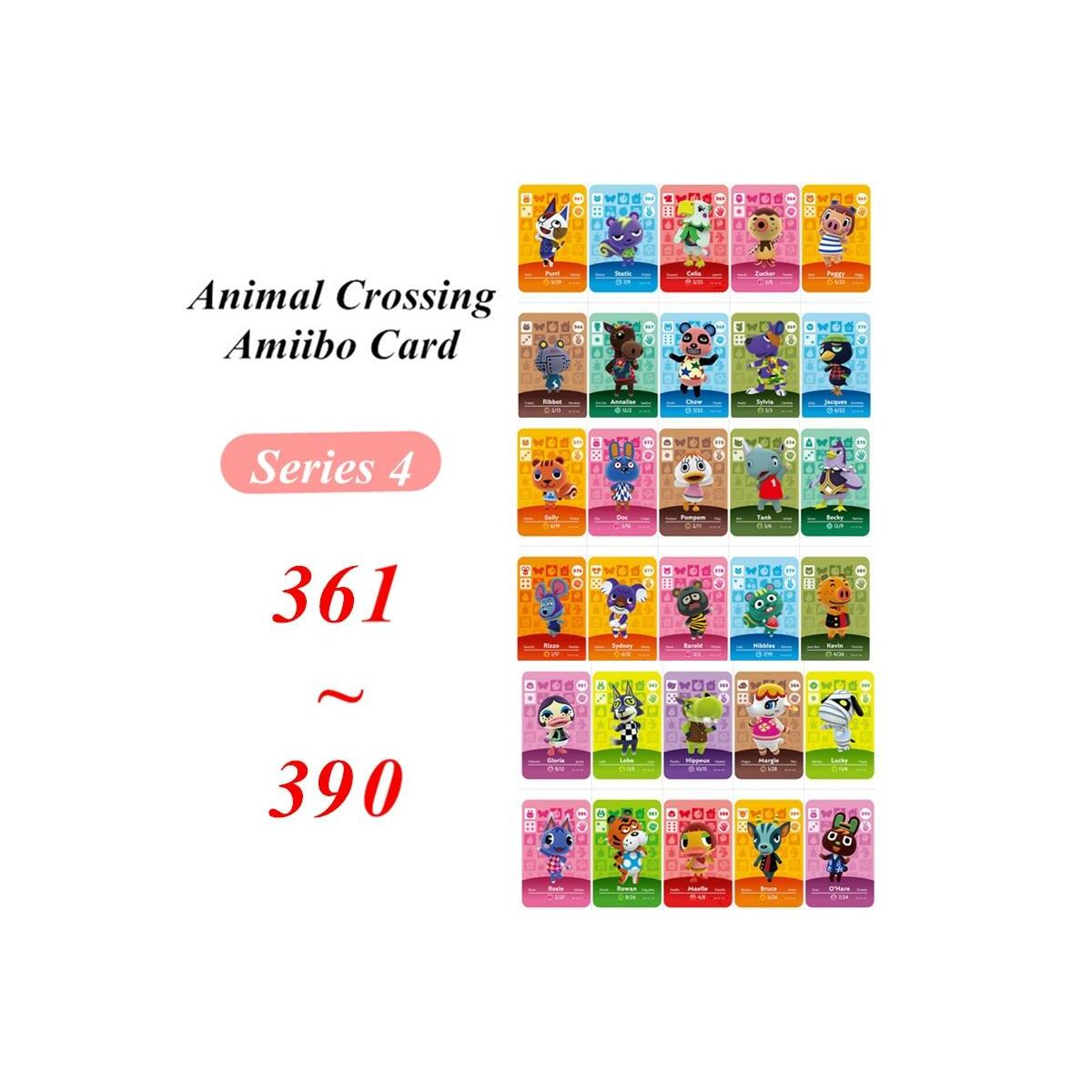361 to 390 Animal Crossing Amiibo Cards Series 4, 370 Jacques