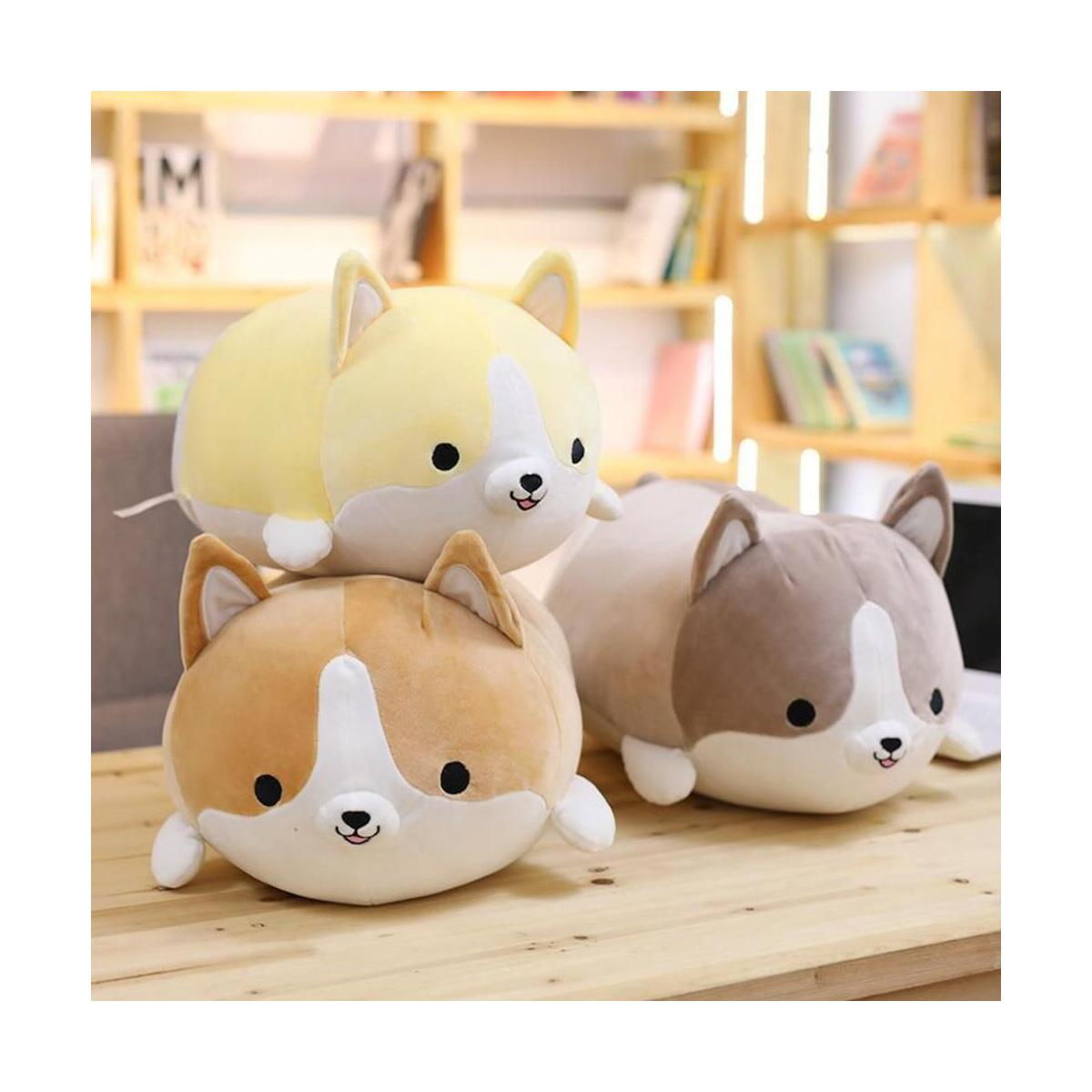 Corgi Dog Plush Pillow, Soft Cute Shiba Inu Akita Stuffed Animals Toy Gifts