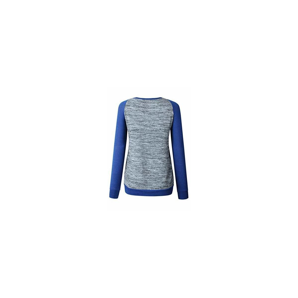 Women's Crew Neck Long Sleeve Casual Tunic Sweater Tops Pullover