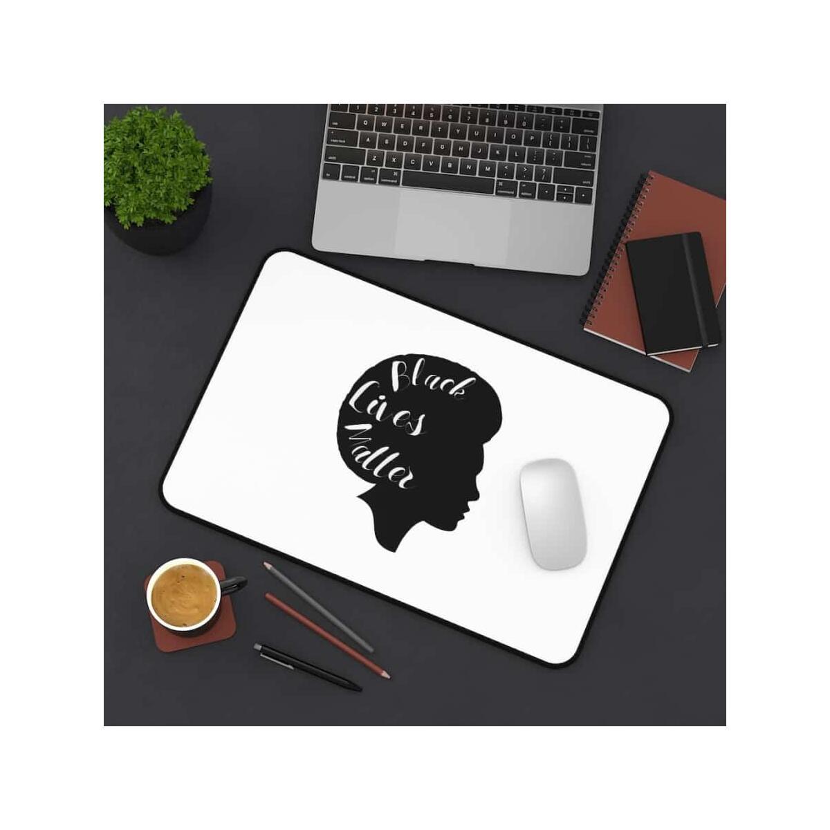 Afrocentric Side Face Desk Mat, 12
