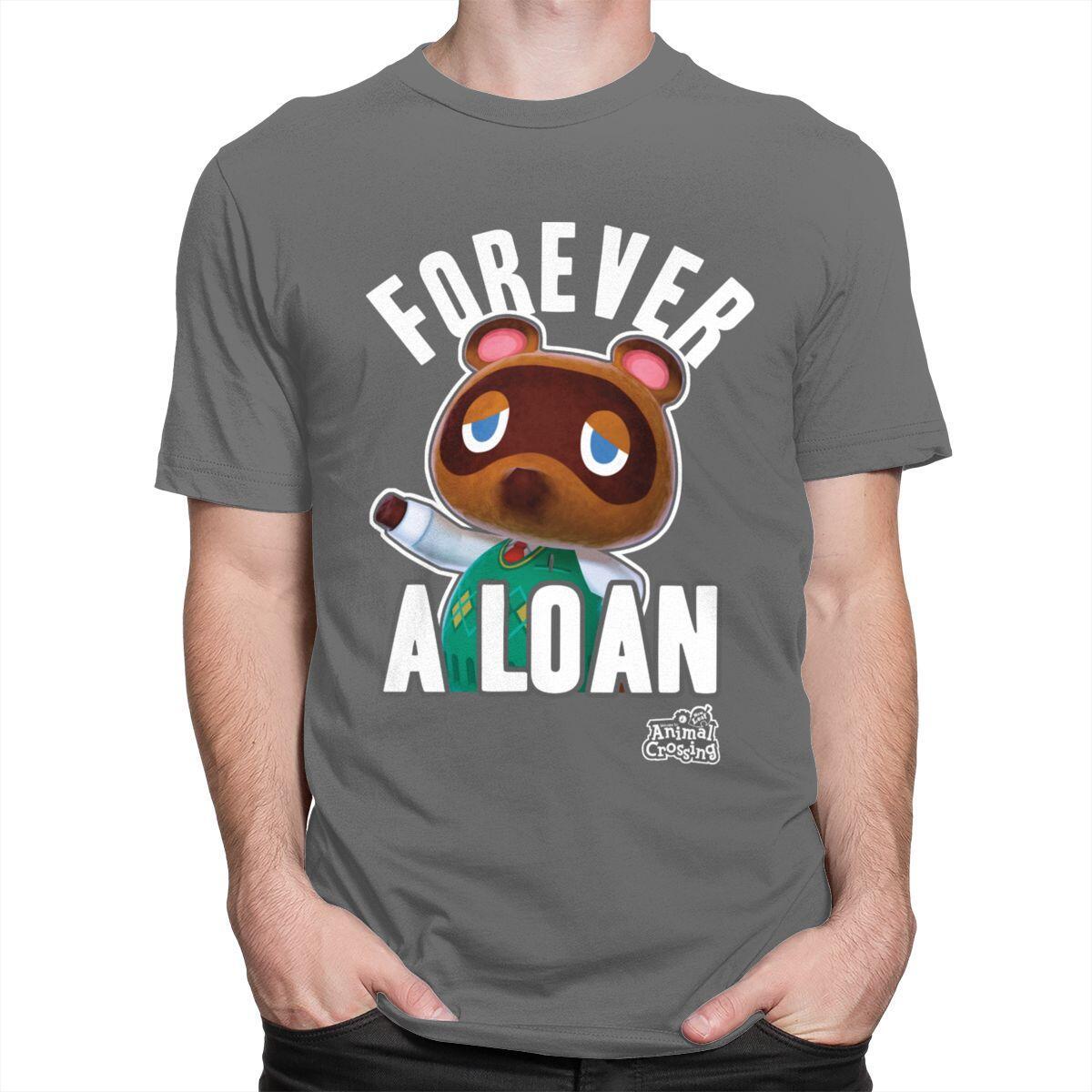 Forever A Loan Tom Nook Shirt, Dark Grey / M