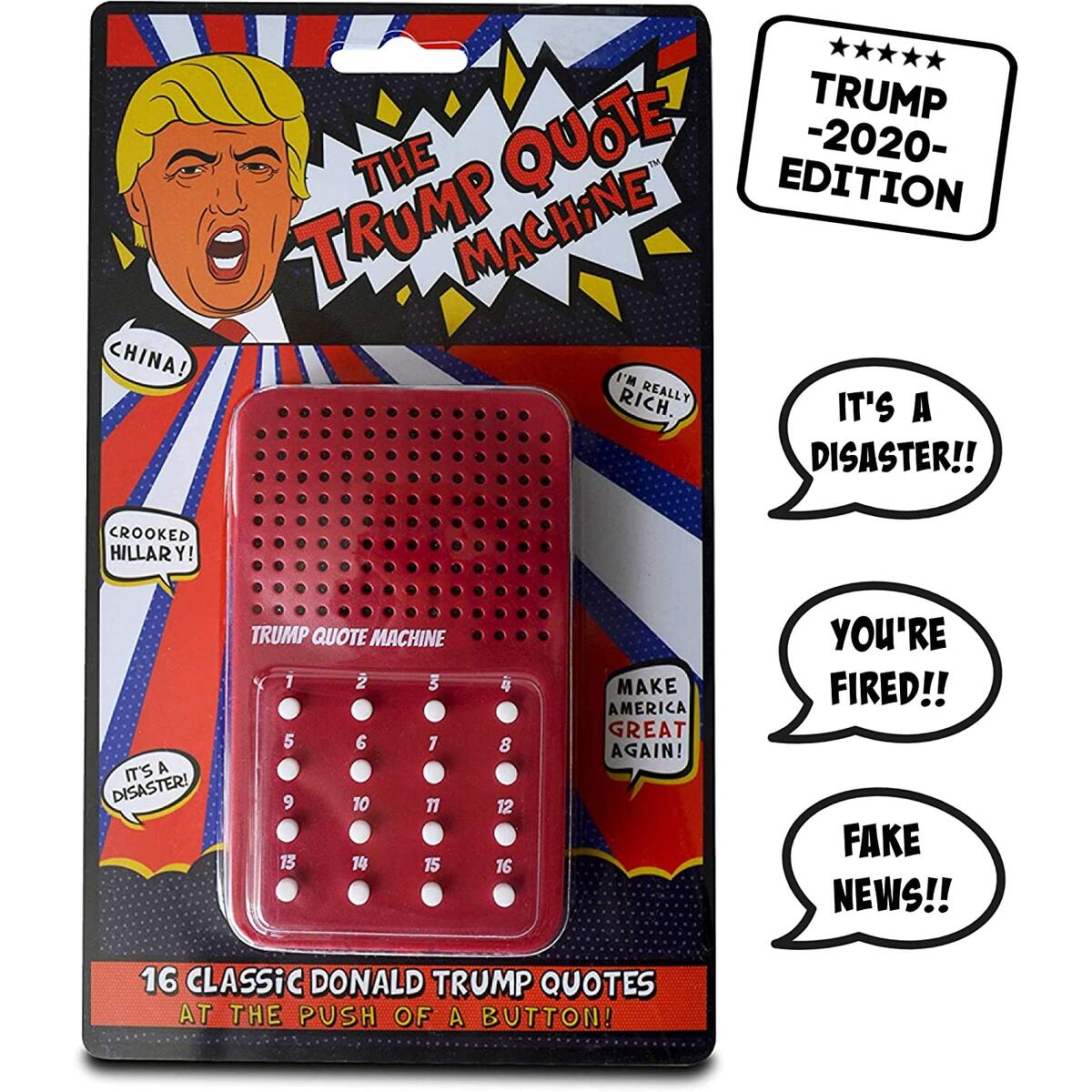 Trump Gag Gift - The Donald Trump Quote Machine - 16 Classic Quotes, One-Liners & Maga Brilliance from President Trump Himself - A Funny Gag Gift to Make America Great Again