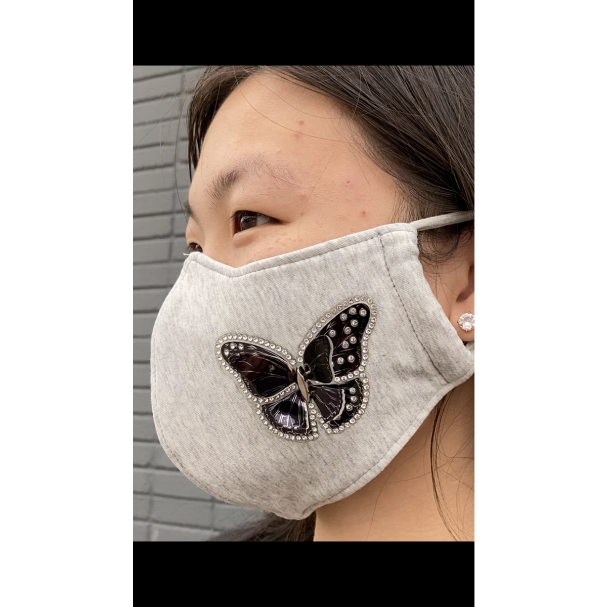 3D design mask, 3D crystal butterfly face mask, fashion mask, Washable 3-Layer Face Cover, 3-Ply Cloth Droplet Repelling Face Mask for Kids, Boy, Girl, Toddler, Adults