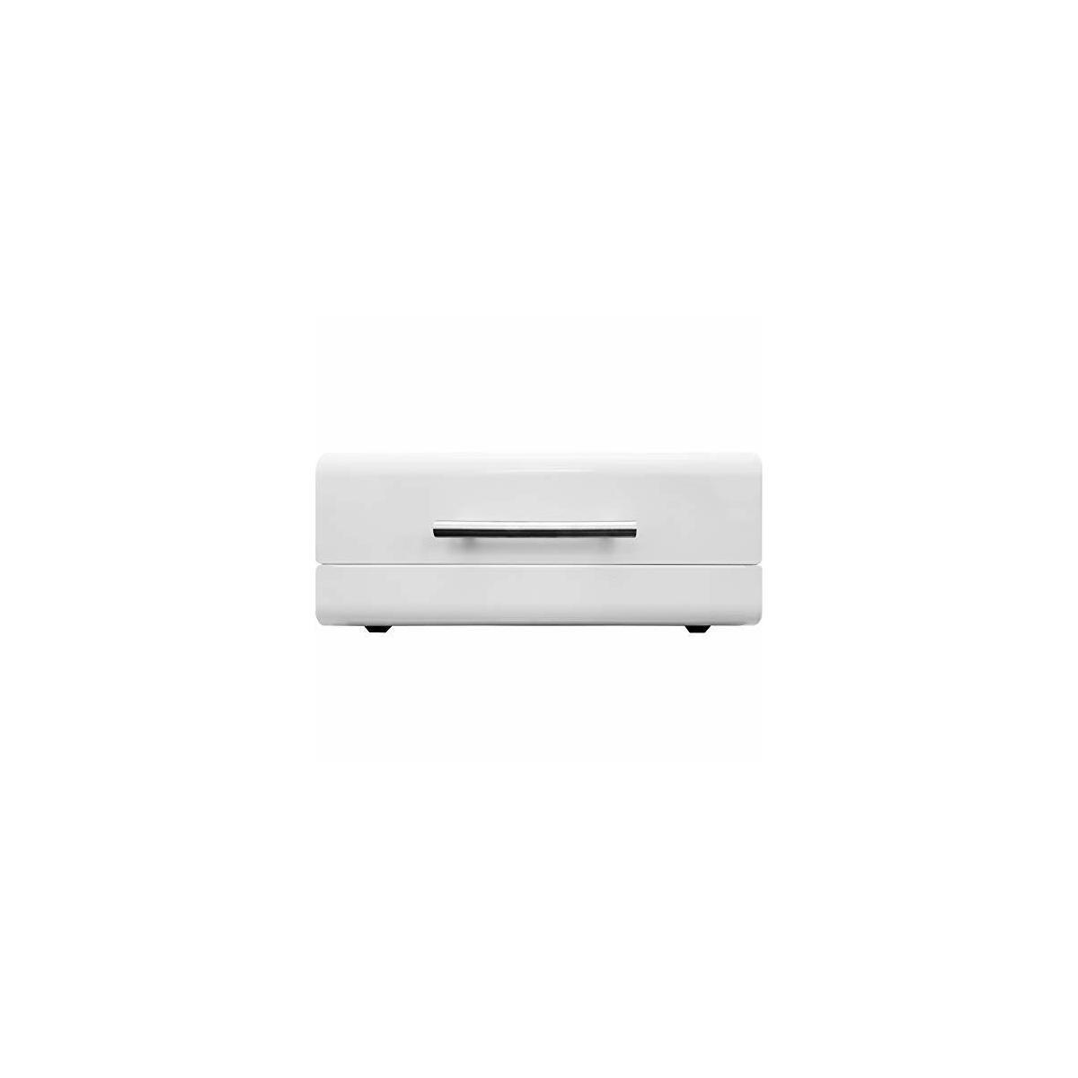 White Sleek Modern Bread Box For Kitchen Counter - Steel Bread Storage Bin By Cooler Kitchen