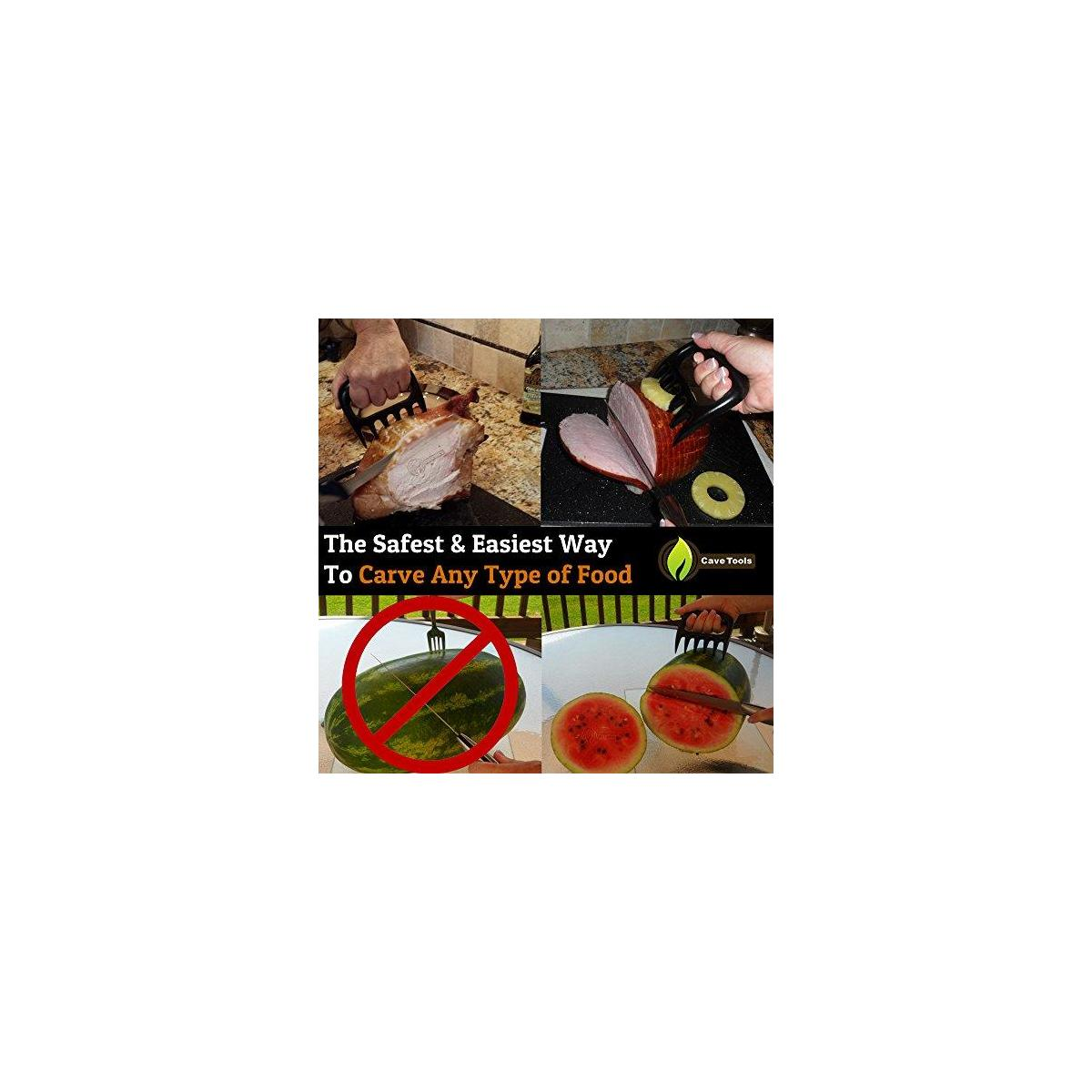 Vegetable Basket + Pulled Pork Shredder Claws - Strongest BBQ Meat Forks - Shredding Handling & Carving Food - Claw Handler Set for Pulling Brisket from Grill Smoker or Slow Cooker - Barbecue Paws