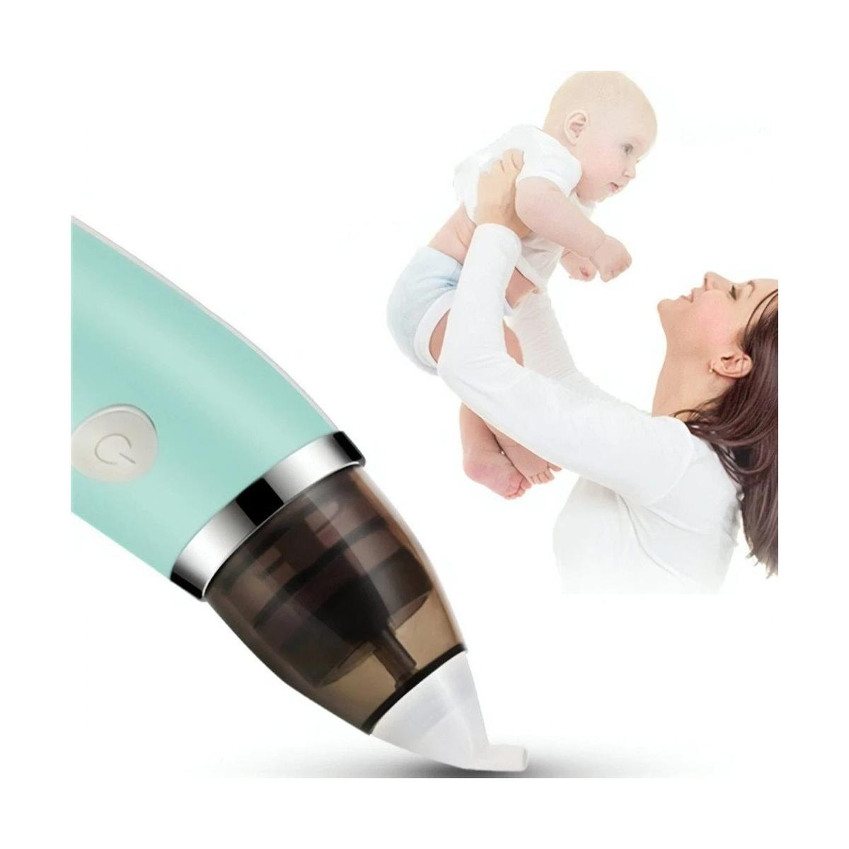 Baby Nasal Aspirator Toddler Safe Nose Suction and Gently Clears Infant's Mucus. Battery Operated with 3 Sizes of Silicone Tips and Manual Snot Booger Sucker and Remover for Newborns