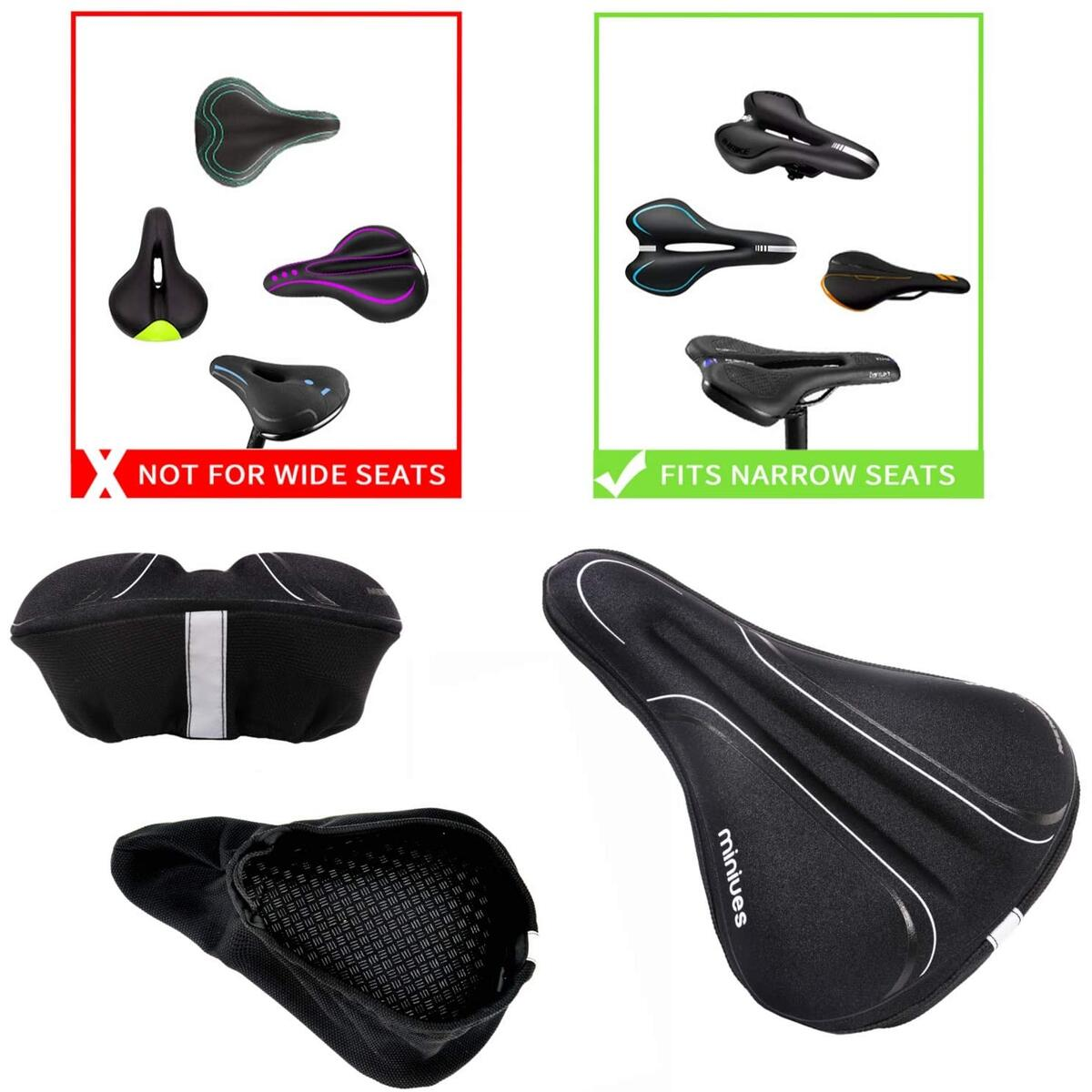 Bike Seat Cover/Bike Saddle Cover,Comfortable Bicycle Seat Cover for Men Women Thickened Memory Foam,Soft Bicycle Saddle Cover for Cruiser Mountain Road and Exercise Most Bikes