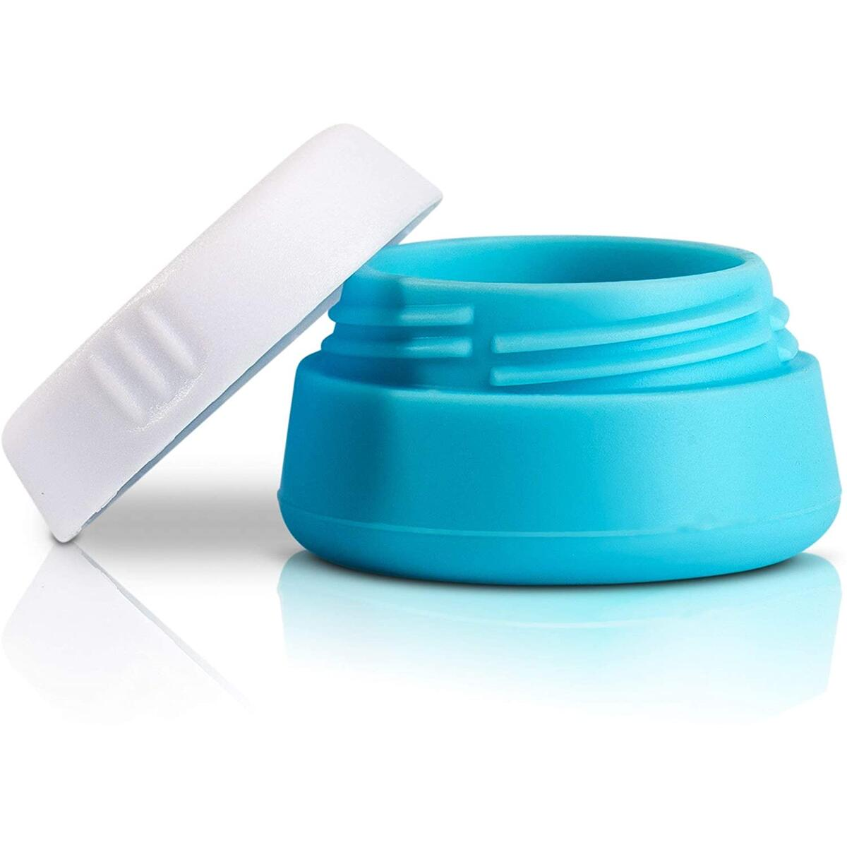 Travel Jars Cosmetic Containers, Perfect Compact Sample Size Silicone Travel Container for Makeup, Lotion, Cream Etc, Superior Quality Empty Jar
