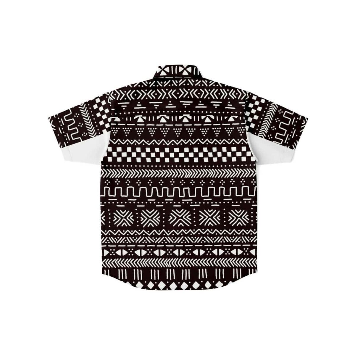 Men's Afrocentric Short Sleeve Button Down Shirt