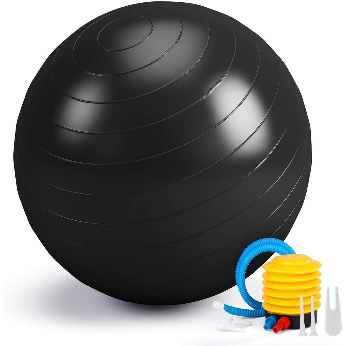 Smartor Exercise Ball 65CM Fitness Ball, Anti-Burst Stability Ball with Quick Pump, Professional Balance Ball for Pilates, Yoga, Core Strength, Birthing Exercise