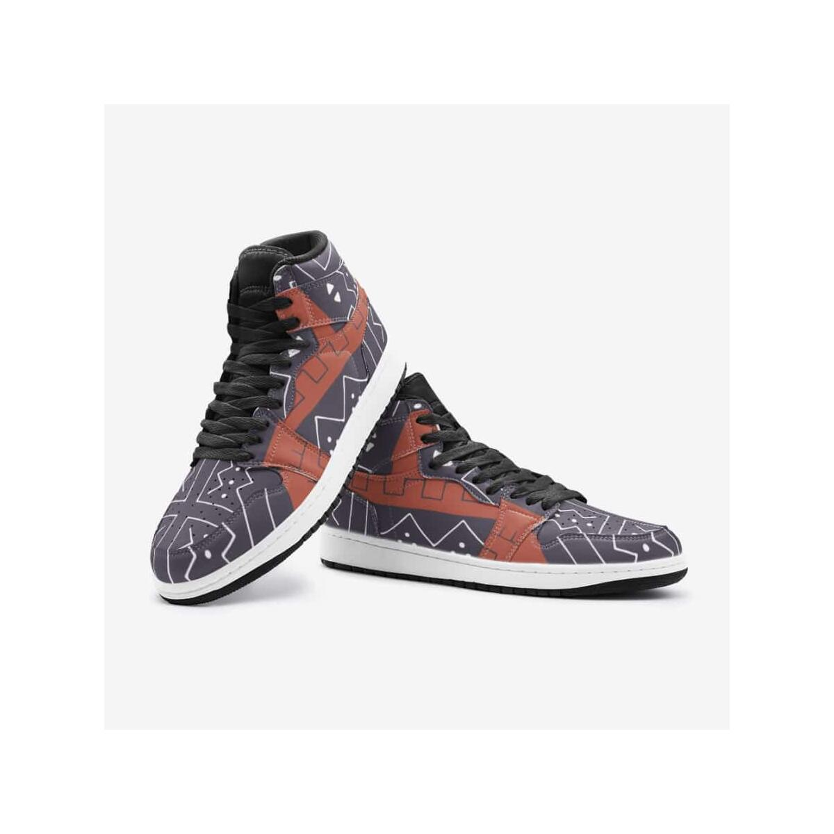 African Bogolan Mud Cloth unisex sneaker TR, 8 Women / 6.5 Men / White